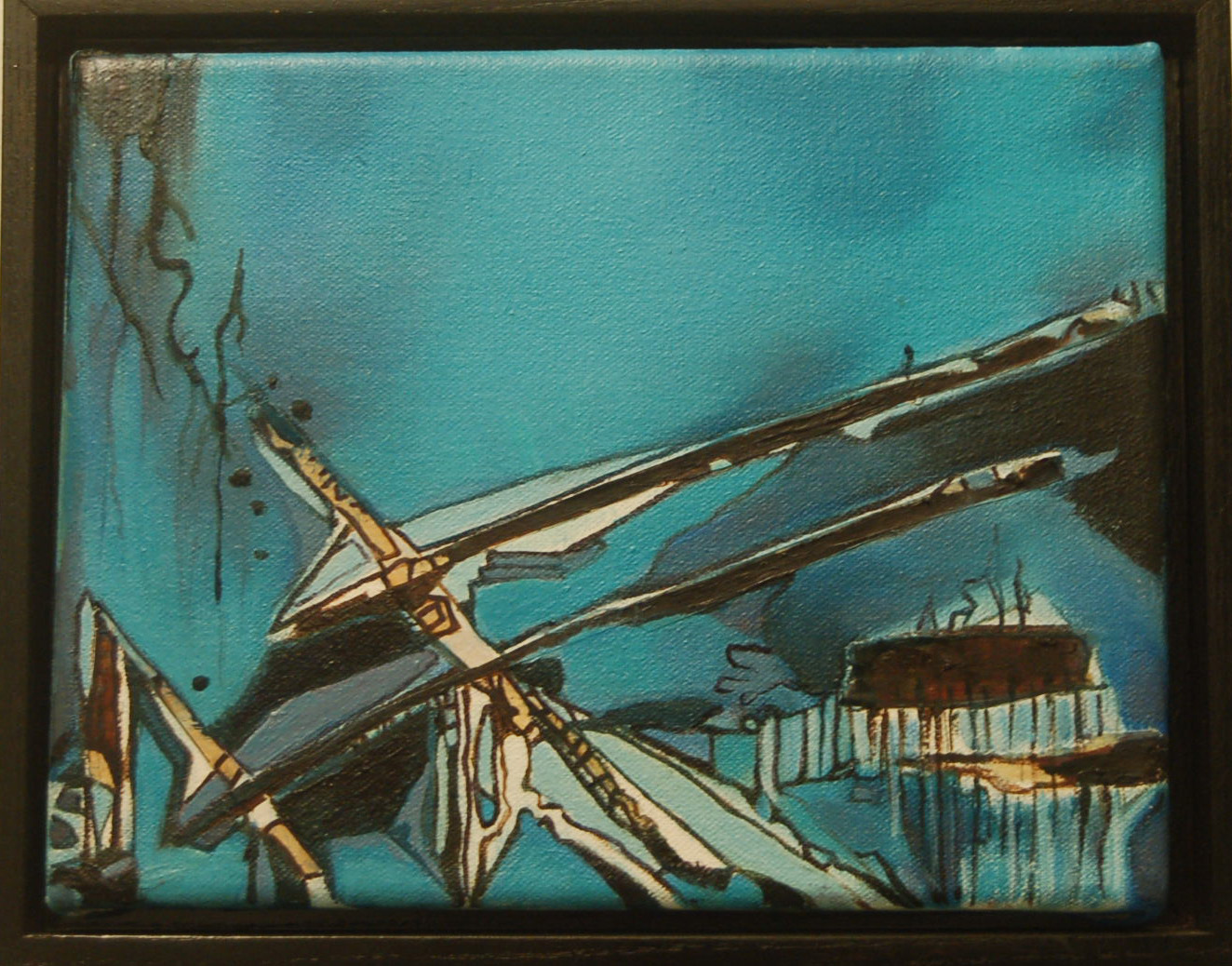 Suspended In Blue, 10 x 8, framed, $300