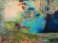 Faded Sunset Edges Denial,  48 x 72 inches, $4500