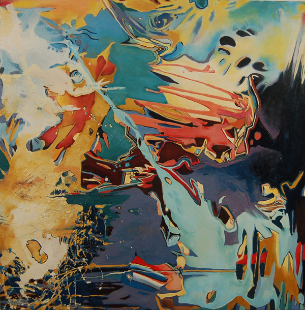 Diving Thru The Wreck, 48 x 48 $3800, Available At Ryan James Fine Art